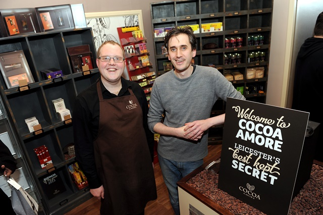 Chocolate shop unwraps new Leicester store