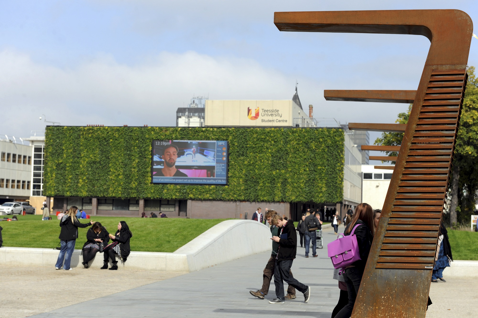 Vertical garden installation brings university to 'life'