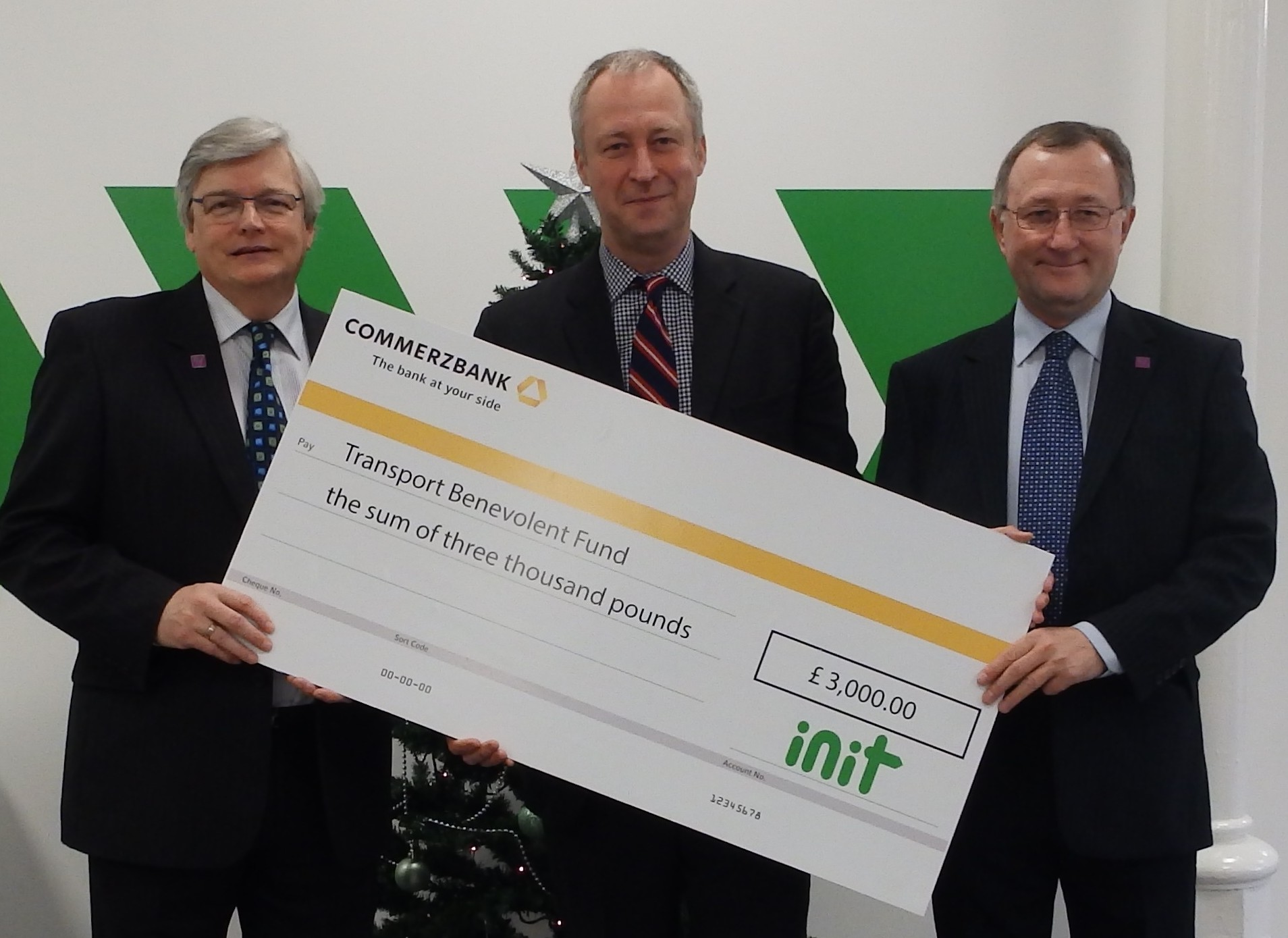 INIT makes Christmas donation to Transport Benevolent Fund