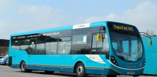The Arriva service to Magna Park