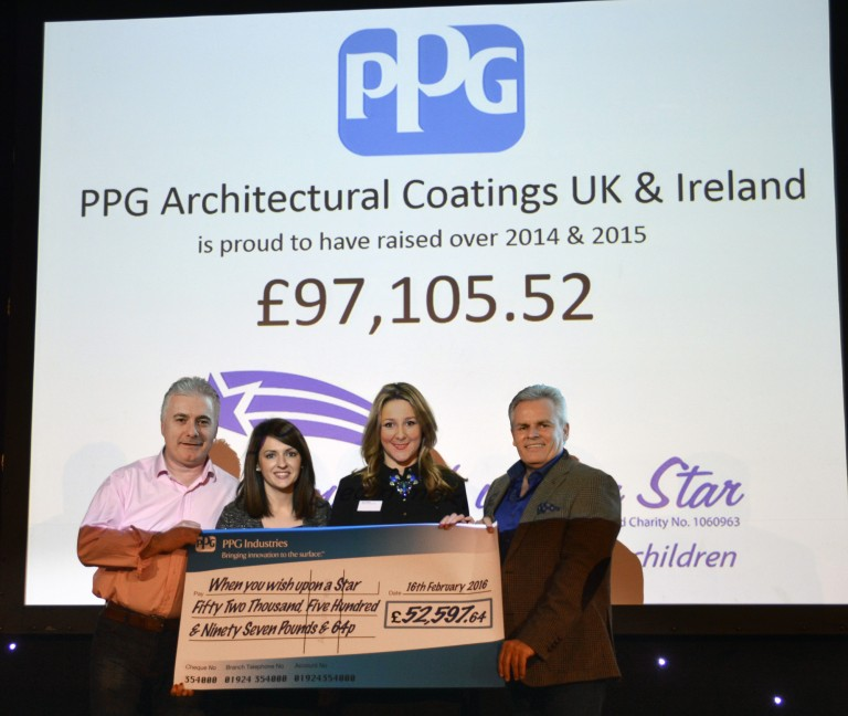 Notts-based charity receives over £97,000 from decorating firm