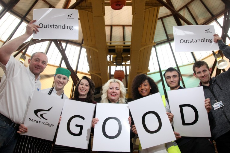 Derby College praised by Ofsted inspectors
