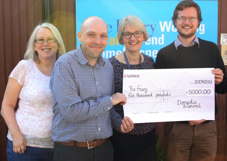 Appliance care firm donates thousands to homeless charity