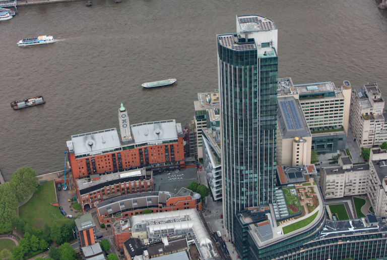 EvoEnergy installs sky-high solar array at South Bank Tower