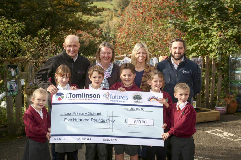 J Tomlinson donates to Derbyshire school