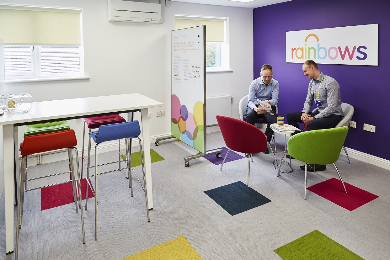 Workplace Design And Fit Out Company Blueprint Interiors Has Transformed The Offices Of Rainbows Childrens Hospice