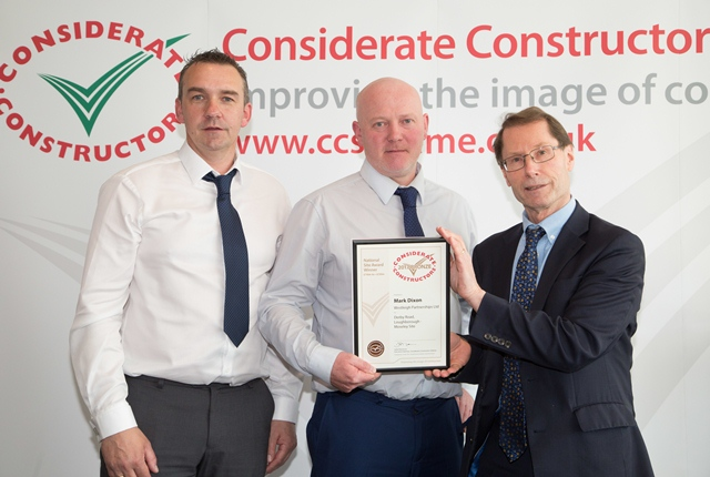 Leicestershire housebuilder scoops bronze at Considerate Constructors Scheme awards