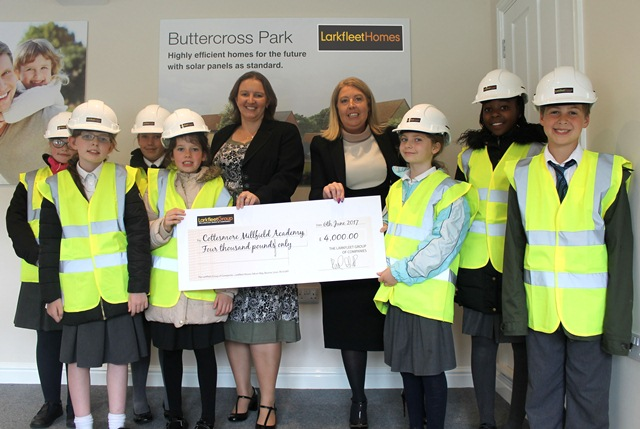 Larkfleet homes donates £4,000 to young students