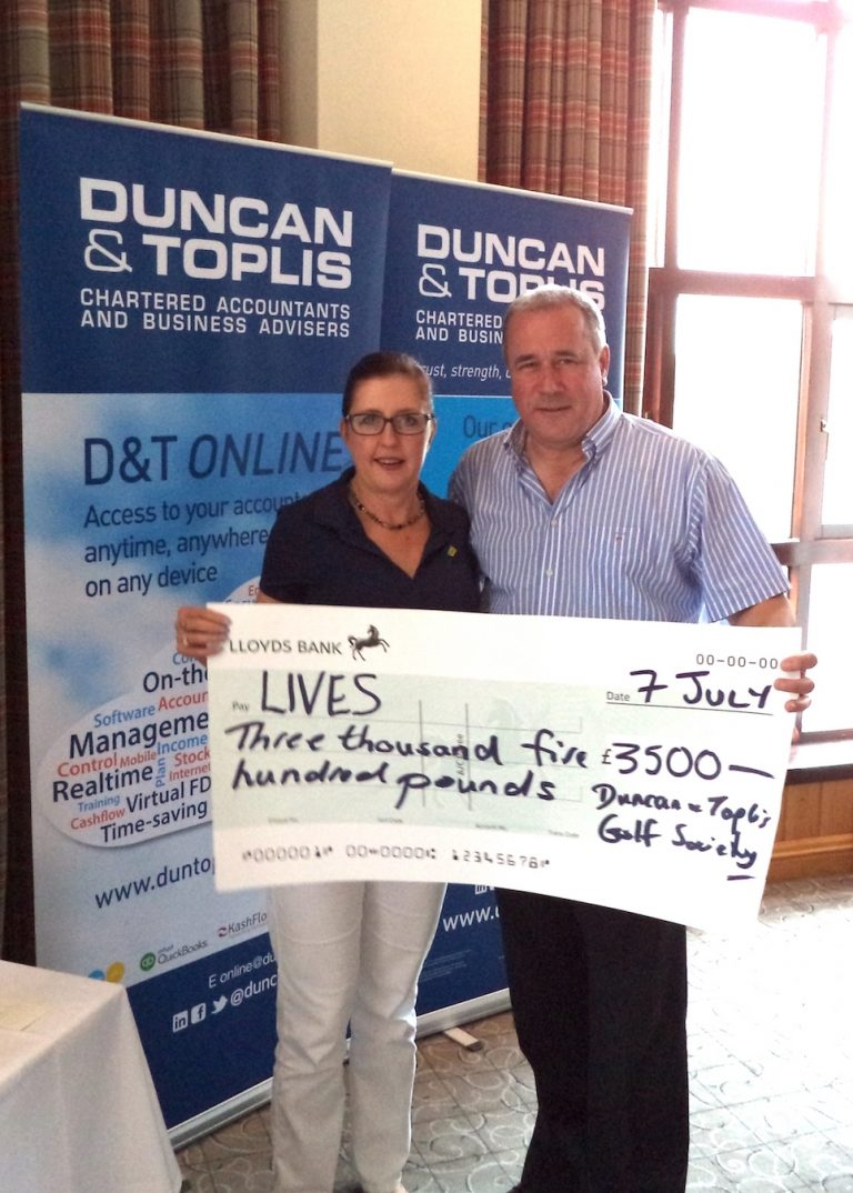 Duncan & Toplis' 27th Charity Golf Day Raises £3,500 for LIVES