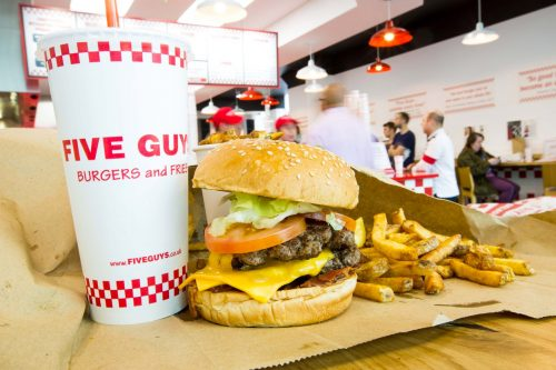 Shopping centre attracts new Five Guys food outlet