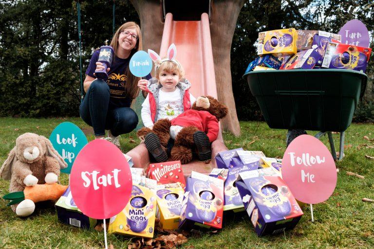 Eggsellent effort as businesses dig deep for charity