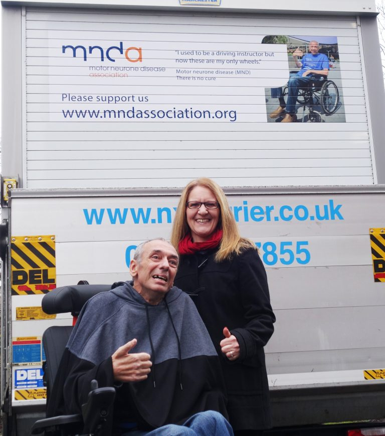 Logistics firm raises profile of Motor Neurone Disease with messages on its courier vans