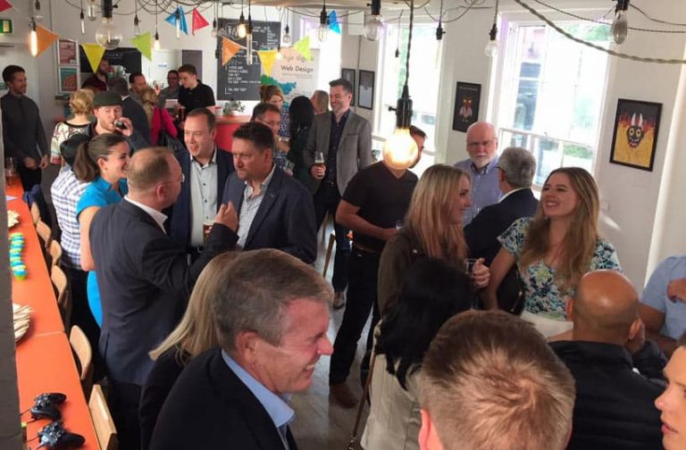 H22 Solutions celebrate their rebrand to h2o digital at the NVA