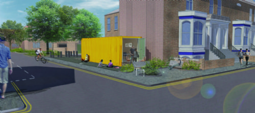University to convert shipping container as part of regeneration project