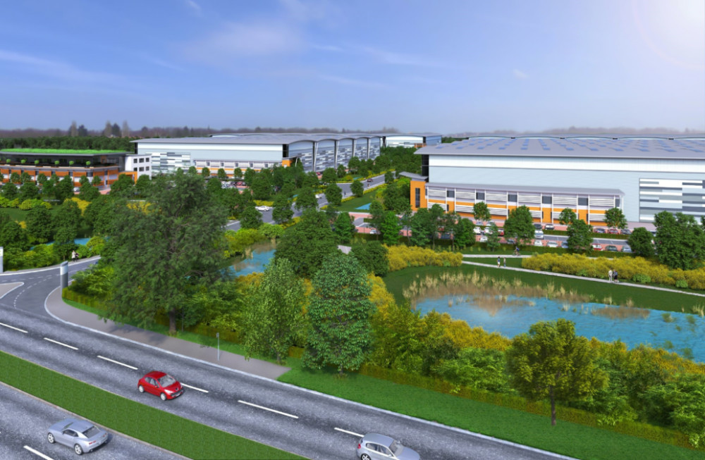 Plans lodged for £90m logistics hub in Leicestershire