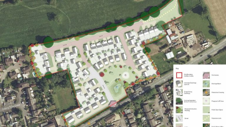 6.62-acre greenfield site in Derbyshire sold to national housebuilder