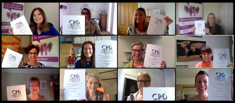 CPD accreditation for menopause in workplace specialist