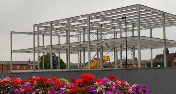 Work progresses at Chesterfield's Northern Gateway Enterprise Centre