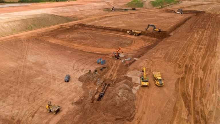 Earthworks get underway at 238-acre employment park