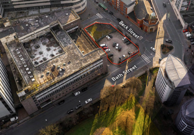 Nottingham land with outline consent for apartments and student flats hits the market