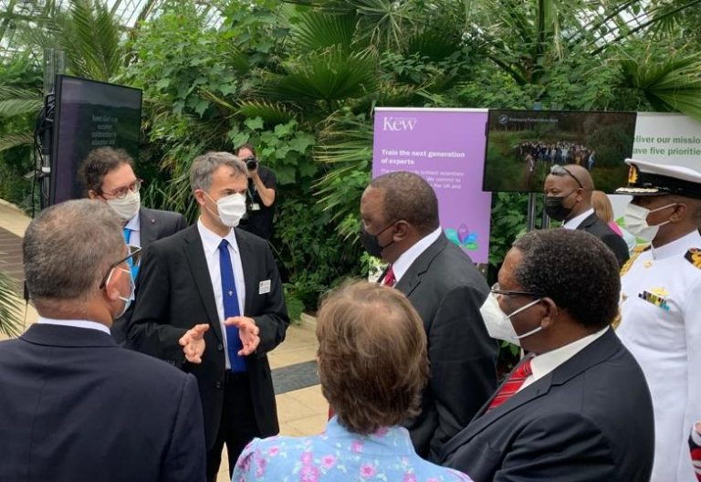 Satellite ecosystem protection project developed by Leicester researchers showcased to Kenyan President